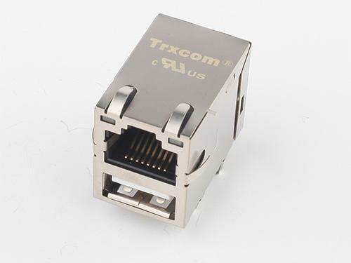 10/100M RJ45 with single USB combo TRJU3101AONL