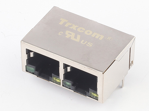 1X2 21.3MM 100/1000M 开口朝下 带灯无弹片