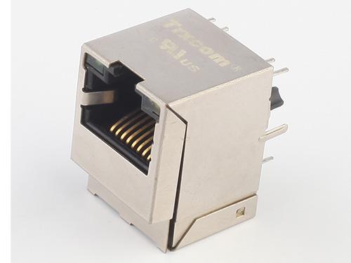 RJ45-TRJD直插180度 RJ45带滤波器