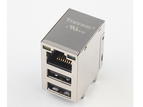 RJ45-TRJU4带双层USB