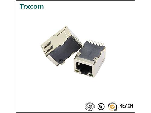 SMT 25.4MM 100/1000M 开口朝上 带灯带弹片