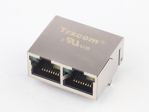 1X2 25.4MM 100/1000M 开口朝上 带灯无弹片